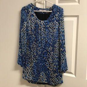 Vintage Tibi blue leopard print dress